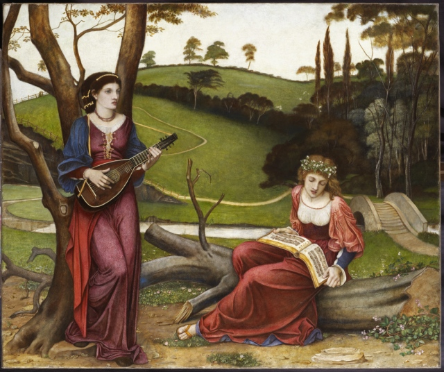 The Gentle Music of a Bygone Day by John Roddam Spencer-Stanhope (Cannon Hall 1829 - Florence 1908) at Wightwick Manor, West Midlands